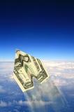 αεροπλάνο χρημάτων στοκ εικόνες με δικαίωμα ελεύθερης χρήσης