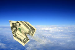 αεροπλάνο χρημάτων στοκ φωτογραφία με δικαίωμα ελεύθερης χρήσης