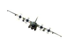 αεροπλάνο c130 στρατιωτικό Στοκ Εικόνες