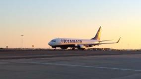 Αεροπλάνο Ryanair Στοκ Εικόνα