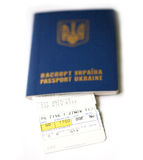 Αεροπορικό εισιτήριο Στοκ Εικόνες