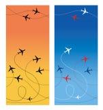 Αεροπορικό ταξίδι Στοκ εικόνες με δικαίωμα ελεύθερης χρήσης