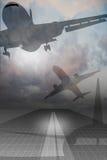 αεροπορικό ταξίδι Στοκ εικόνα με δικαίωμα ελεύθερης χρήσης