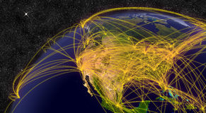 Αεροπορικό ταξίδι στη Βόρεια Αμερική Στοκ Εικόνες