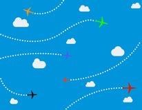 Αεροπλάνα και σημεία Στοκ φωτογραφία με δικαίωμα ελεύθερης χρήσης