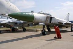 Αεροπλάνα που παρουσιάζονται στο διεθνές αεροδιαστημικό σαλόνι MAKS Στοκ Εικόνες