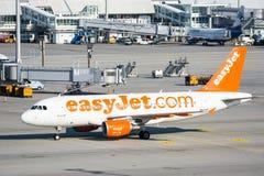 Αεροπλάνα στη θέση χώρων στάθμευσης στο Μόναχο ariport Στοκ εικόνα με δικαίωμα ελεύθερης χρήσης