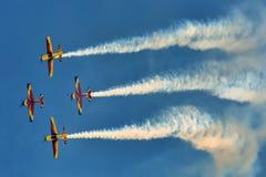 Αεροπλάνα στον ουρανό Στοκ Φωτογραφία