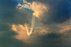 Αεροπλάνα στον ουρανό Στοκ Φωτογραφίες