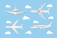 Αεροπλάνα στον ουρανό διανυσματική απεικόνιση