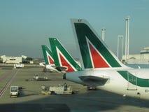 Αεροπλάνα Alitalia Στοκ φωτογραφία με δικαίωμα ελεύθερης χρήσης
