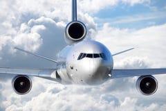 Αεροπλάνο αεριωθούμενων αεροπλάνων, πέταγμα Στοκ Εικόνα