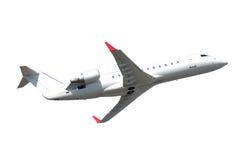Αεροπλάνο αεριωθούμενων αεροπλάνων Privat που απομονώνεται σε ένα άσπρο υπόβαθρο Στοκ φωτογραφίες με δικαίωμα ελεύθερης χρήσης