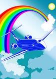 αεροπλάνο αεριωθούμεν&omeg Στοκ φωτογραφία με δικαίωμα ελεύθερης χρήσης