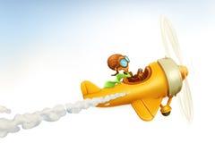 αεροπλάνο αστείο διανυσματική απεικόνιση