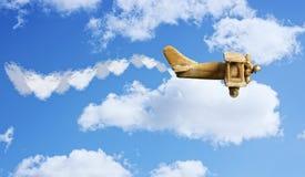Αεροπλάνο βαλεντίνων Στοκ φωτογραφία με δικαίωμα ελεύθερης χρήσης