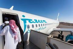 Αεροπλάνο εναέριων διαδρόμων Jazeera στο Κουβέιτ Στοκ φωτογραφίες με δικαίωμα ελεύθερης χρήσης