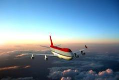Αεροπλάνο επάνω από τα σύννεφα Στοκ εικόνες με δικαίωμα ελεύθερης χρήσης