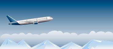 Αεροπλάνο επιβατών επάνω από τα σύννεφα Στοκ φωτογραφίες με δικαίωμα ελεύθερης χρήσης