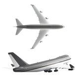 Αεροπλάνο επιβατών που απομονώνεται στο άσπρο υπόβαθρο Στοκ Φωτογραφία