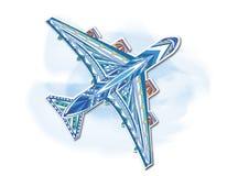 Αεροπλάνο, διακοσμητική ζωγραφική Στοκ φωτογραφία με δικαίωμα ελεύθερης χρήσης