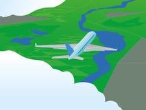 Αεροπλάνο κατά την πτήση Στοκ φωτογραφία με δικαίωμα ελεύθερης χρήσης