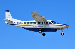 Αεροπλάνο κατόχων διαρκούς εισιτήριου του ST Barth στοκ εικόνα