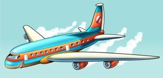Αεροπλάνο κινούμενων σχεδίων απεικόνιση αποθεμάτων