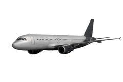 Αεροπλάνο με τη σκοτεινή ουρά που απομονώνεται στο λευκό Στοκ φωτογραφία με δικαίωμα ελεύθερης χρήσης
