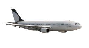 Αεροπλάνο με τη σκοτεινή ουρά στο λευκό Στοκ Φωτογραφία