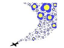 Αεροπλάνο λουλουδιών Στοκ Φωτογραφίες