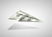 Αεροπλάνο δολαρίων Στοκ Εικόνες