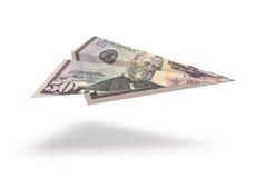 Αεροπλάνο δολαρίων Στοκ εικόνα με δικαίωμα ελεύθερης χρήσης