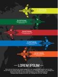 Αεροπλάνο πέντε Infographic επιλογή Στοκ εικόνα με δικαίωμα ελεύθερης χρήσης