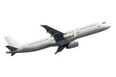 Αεροπλάνο που απομονώνεται σε ένα άσπρο υπόβαθρο Στοκ Φωτογραφίες
