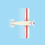 Αεροπλάνο που πετά στον ουρανό επίσης corel σύρετε το διάνυσμα απεικόνισης Στοκ Εικόνες