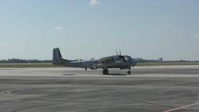 Αεροπλάνο πολεμικής εποχής του Βιετνάμ απόθεμα βίντεο