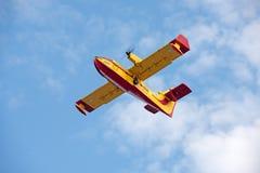 Αεροπλάνο προσβολής του πυρός Στοκ Εικόνες