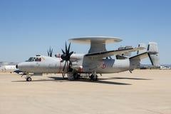 Αεροπλάνο ραντάρ Hawkeye ναυτικού της Γαλλίας ε-2C Στοκ φωτογραφία με δικαίωμα ελεύθερης χρήσης