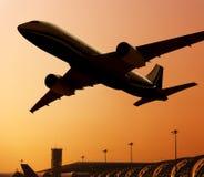 Αεροπλάνο στον αέρα Στοκ Εικόνα