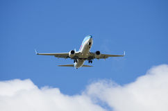 Αεροπλάνο στον ουρανό Στοκ φωτογραφία με δικαίωμα ελεύθερης χρήσης