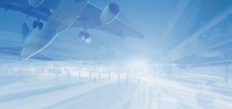 Αεροπλάνο στο αφηρημένο υπόβαθρο στοκ εικόνες με δικαίωμα ελεύθερης χρήσης