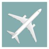 Αεροπλάνο στο υπόβαθρο διανυσματική απεικόνιση