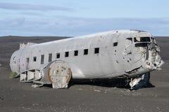 Αεροπλάνο της Ντακότας στην παραλία στοκ εικόνα