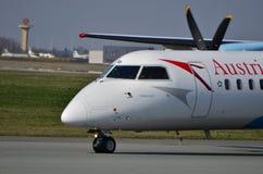 Αεροπλάνο της Austrian Airlines Στοκ φωτογραφία με δικαίωμα ελεύθερης χρήσης