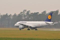 Αεροπλάνο της Lufthansa Στοκ Εικόνες