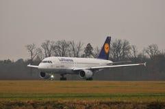 Αεροπλάνο της Lufthansa Στοκ εικόνα με δικαίωμα ελεύθερης χρήσης