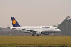 Αεροπλάνο της Lufthansa Στοκ Εικόνα