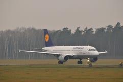 Αεροπλάνο της Lufthansa Στοκ εικόνες με δικαίωμα ελεύθερης χρήσης
