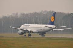Αεροπλάνο της Lufthansa Στοκ Φωτογραφίες